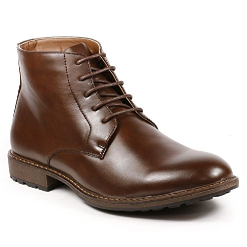 Metrocharm MC132 Men's Lace Up Casual Fashion Ankle Chukka Boots (13, Brown)