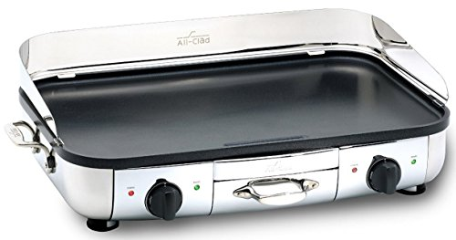 All-Clad 99014 GT Electric Griddle with 20 x 13-Inch Hard Anodized Cooking Surface, Silver