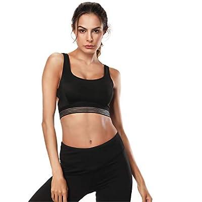 ZOUYUE Sports Bra Wireless Padded Bra for Gym Workout Activewear Yoga Running Bra