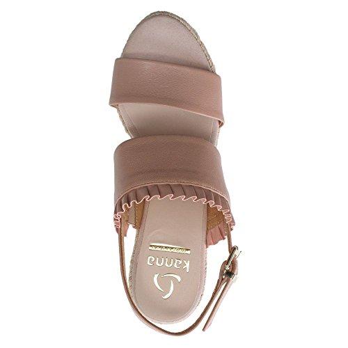 De Mujer Kanna Leather Piel Sandalias Rosa Pink Vestir Para 5wzqn1rzX