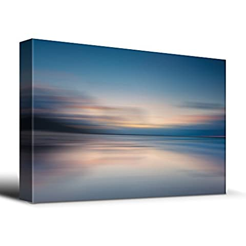 Wall26 - Sunrise golden hour calm lake - Canvas Art Home Decor - 16x24 inches (Cvs Hours)