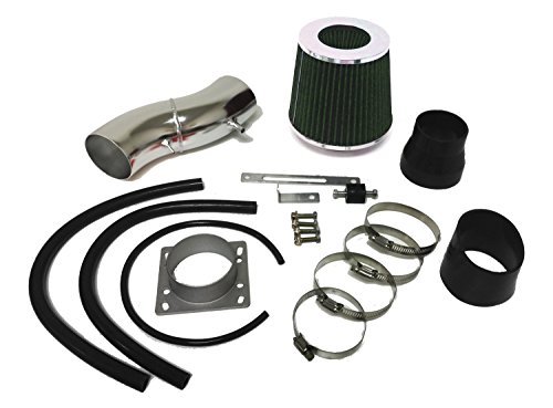 1991-1999 Nissan Sentra and 1993-1997 Altima and 1991-2002 Infiniti G20 all Models Air Intake Filter Kit System (Black Accessories with Green ()