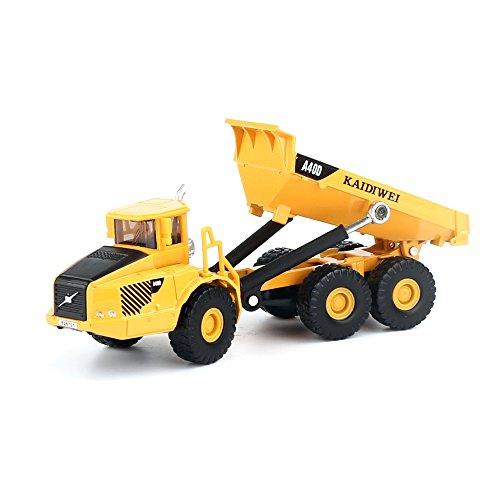 KDW 1/87 Scale Diecast Mini Dump Trucks Construction Vehicle Model Toys