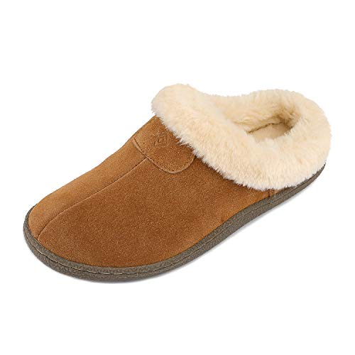 DREAM PAIRS Women's Sofie_01 Chesnut Faux Fur Slippers Loafers Shoes Size 9.5-10 M US (Slippers Mules)