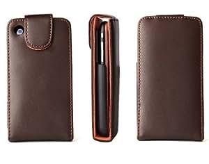 Logotrans Flipcase - Funda de cuero para iPhone 3G y 3GS, color marrón