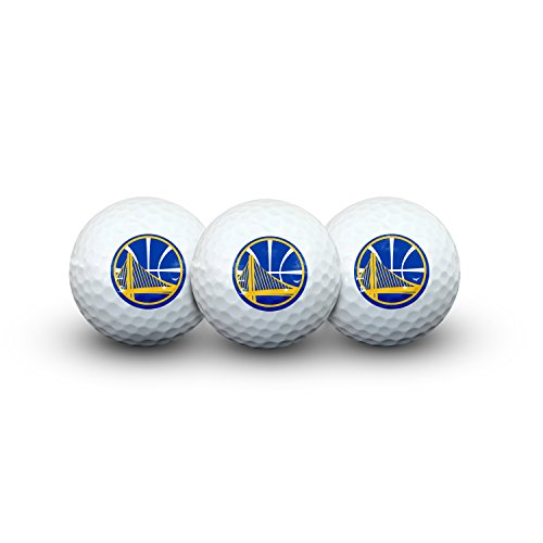 Team Effort NBA Golden State Warriors Golf Ball Pack of 3Golf Ball Pack of 3, NA by Team Effort