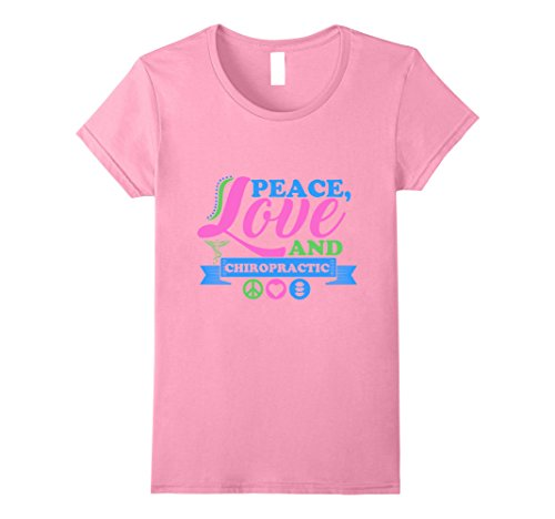 Womens Peace, Love and Chiropractic T-Shirt | Cool T-Shir...
