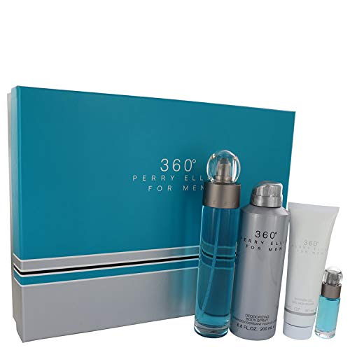 Pèrrÿ Ellíš 360 by Pèrrÿ Ellíš for Men Gift Set - 3.4 oz Eau De Toilette Spray + .25 oz Mini EDT Spray + 6.8 oz Body Spray + 3 oz Shower Gel