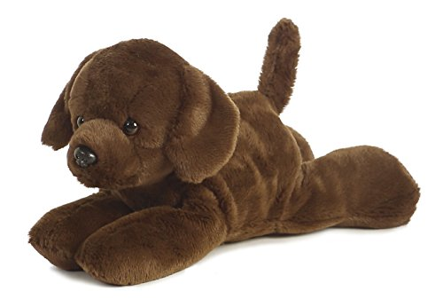 Plush Lil Lucky Chocolate Lab Mini Flopsie 8