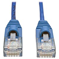 Tripp Lite Cat5e Snagless Molded Slim UTP Patch Cable (M/M), RJ45,  Blue, 2 ft. (N001-S02-BL)