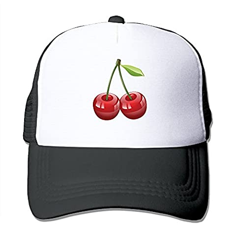 MULTY9 - Cherry - Adult Unisex Adjustable Mesh Back Cap Sun Hat Caps Black (Zotz Bombs Candy)