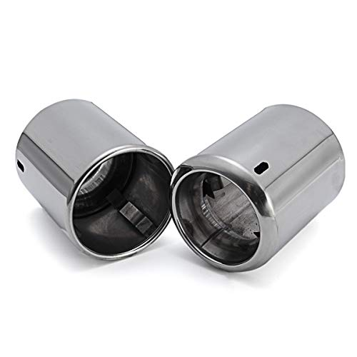 Lindsie-Box - 2Pcs Chrome Exhaust Muffler Tip For Mazda 6 CX-5 CX5 2009- End Trim Stainless Steel Tail Pipe
