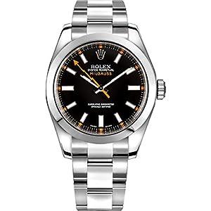 Best Epic Trends 41LKn6FYtcL._SS300_ Rolex Milgauss Black Dial 40mm Men's Watch 116400-BLKSDO