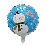 Pausseo 3Pcs/Set Christmas Xmas Foil Aluminum Bubbles Balloons - Merry Christmas Santa Claus Snowman Bells Xmas Tree Party Decor Party Brithday Festival Home Decorations