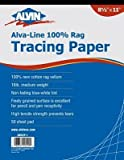 Vellum Tracing Paper (Set of 50) Size: 18 W x 24 D by Alvin and Co.