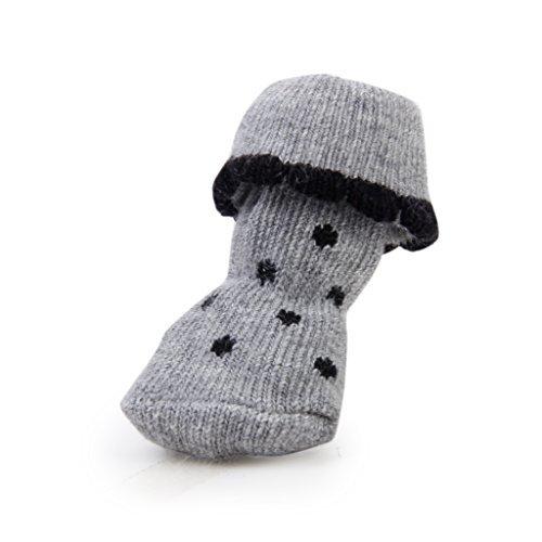 Domestique 5 Styles Antidérapantes Chaussons 2 nbsp;cm Animal Chaussures De Chien Chiot Pour Chat W nbsp;x 6 Ds 1 Chaussettes Pattes empreintes qtadxp1q
