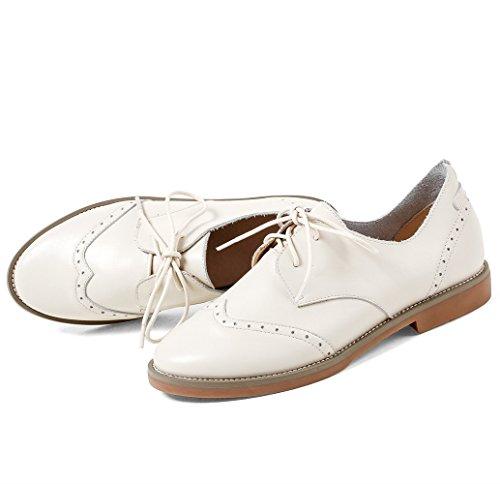 Blanc Lacets Chaussures Derbies Printemps ANNIESHOE Ete Femme Dentelle tqzYxwS