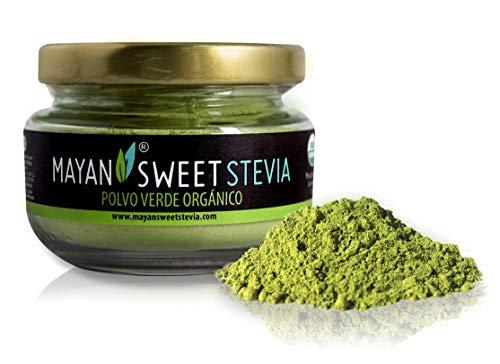 Stevia - 100% Organic Milled Green Powder Mayan Sweet Stevia (40g) Glass -