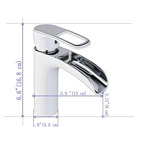 LK6683BH Black Finish Waterfall Tall Tap Single Hanlde Basin Sink Mixer Modern Chrome Spout for Bathroom One Hole Mount Lavatory Leekayer
