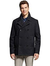 7Encounter Men's Wool Blend Pea Coat