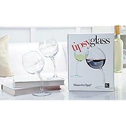 Set of 2 Tipsy Wine Glasses