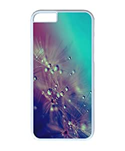 VUTTOO Iphone 6 Plus Case, Dandelion Water Drops Closeup PC Plastic Hard Case Cover for Apple Iphone 6 Plus 5.5 Inch PC White