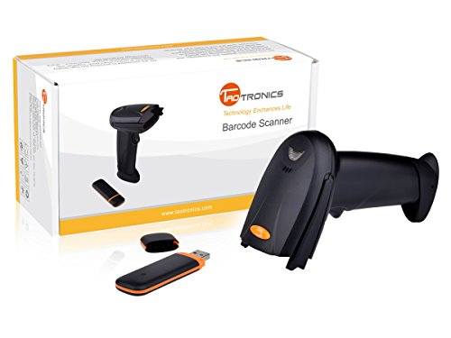 TaoTronics Wireless Barcode Scanner, Portable 2.4GHz Cordless Handheld Bar Code Reader with USB Receiver, Kit...
