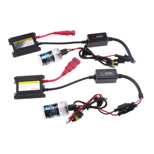 HID Xenon Light Slim Ballast Kit Two 9006 8000K Bulbs