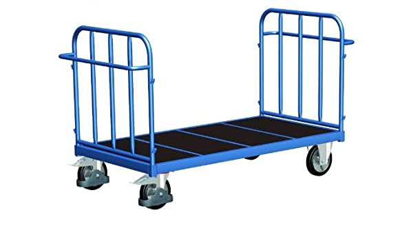 Frente de doble pared carro con senkrechten puntales de carga (kg): 500 ladefläche: 2005 X 880 mm RAL 5010 Azul genciana: Amazon.es: Bricolaje y ...