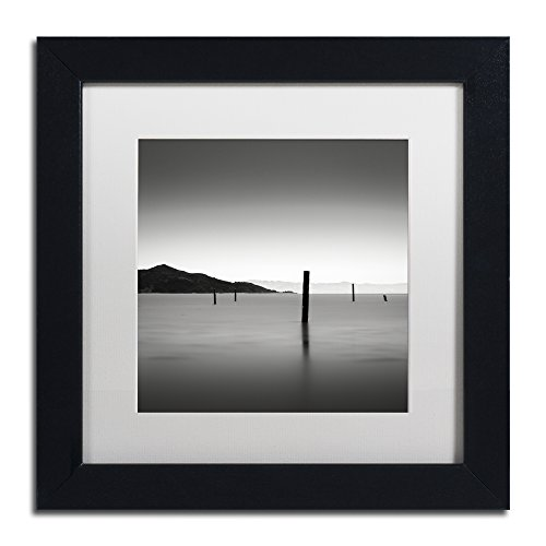 "picture of Trademark Fine Art The Pacific by Dave MacVicar Frame, 11 by 11"", White Matte"