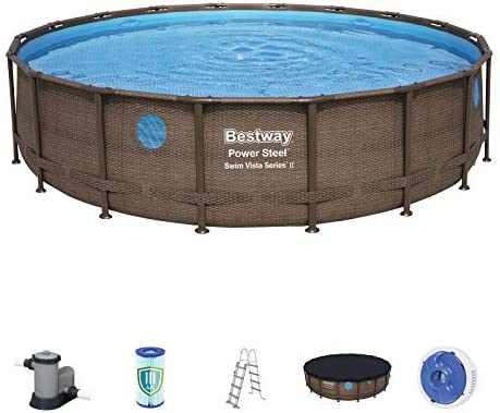 Bestway 56977 - Piscina Desmontable Tubular Power Steel Swim Vista ...