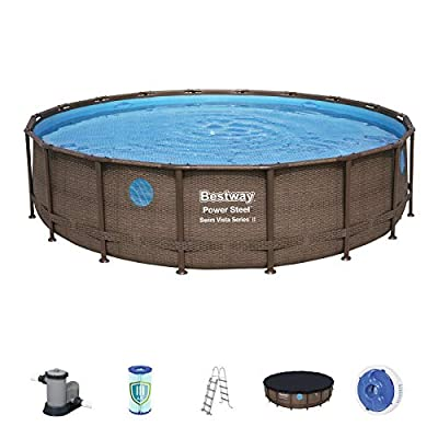 Bestway Piscina POER Steel Swim Vista 5.49m x 1.22m FUORITERRA, Colore