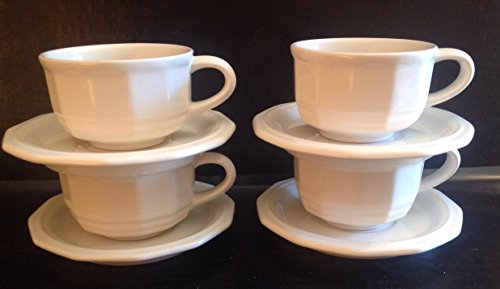 Heritage White Cup (Pfaltzgraff Heritage Pattern Cups and Saucers 4 Sets)