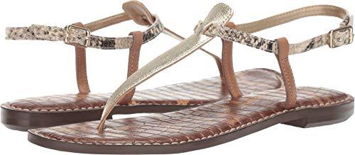 - Sam Edelman Women's Gigi Luxe Gold/Beach Multi Metallic/Snake Leather/Vachetta Leather 6.5 W US
