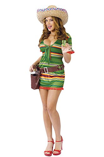 Mememall Fashion Sexy Shooter Tequila Girl Adult Halloween Costume (Sexy Mexican Costumes)
