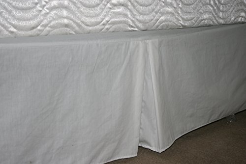 Linen Superstore 50/50 Poly Cotton Percale Daybed Bedskirt - Tailored with Kick Pleats with Split Corners 14