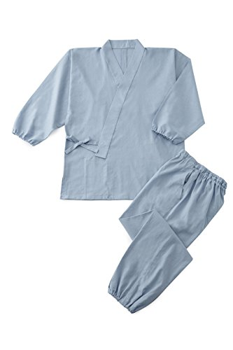 Hemp-feel Plain Weave Summer Samue  Saxe Blue S by Tozando