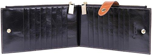 Borgasets Rfid Blocking Women S Genuine Leather Zipper