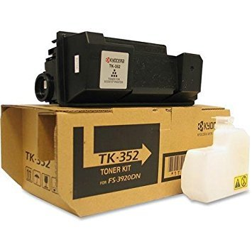 Kyocera 1T02LX0US0 Model TK-352 Genuine Kyocera Black Toner Kit For FS-3040MFP, FS-3040MFP+, FS-3140MFP, FS-3140MFP+, FS-3540MFP, FS-3640MFP, And FS-3920DN Printers, Up To 15000 Pages Yield