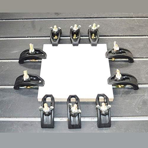 ZSKFS 85ミリメートルボウプレートは、Tスロット作業テーブル用のCNC彫刻機部品プレッシャープレートクランプフィクスチャを設定します。