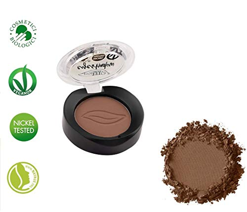 PuroBIO Certified Organic Highly-Pigmented and Long-Lasting Matte Eyeshadow - no.03 Matte Brown - with Vitamins and Plant Oils.VEGAN.ORGANIC.MADE IN ITALY.