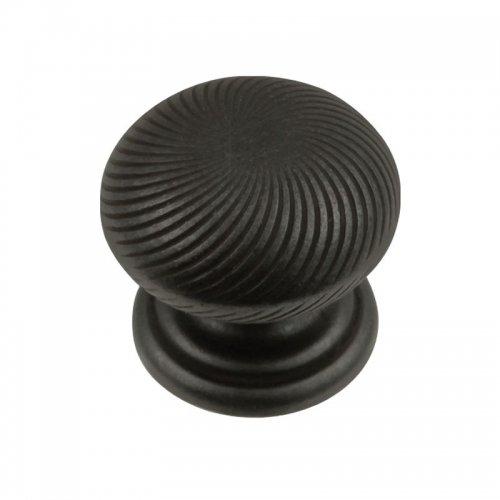 Hickory Hardware P3609-BI 1-1/4-Inch Cabinet Knob, Black Iron