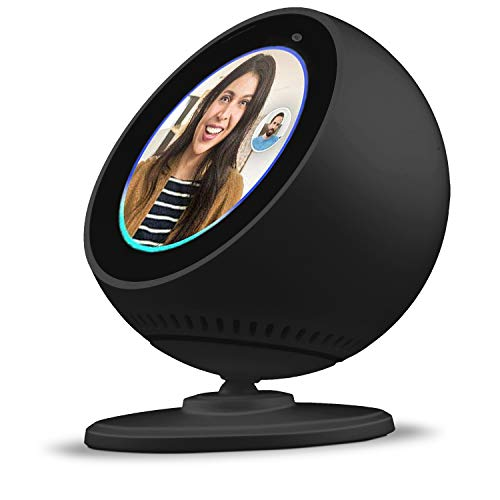 Price comparison product image BLUERIN Echo spot Stand,  Adjust echo's face up and Down Multi Viewing Angle Adjustment 360 Rotation Bracket Mount with Magnetic Base for Echo Spot (Black)