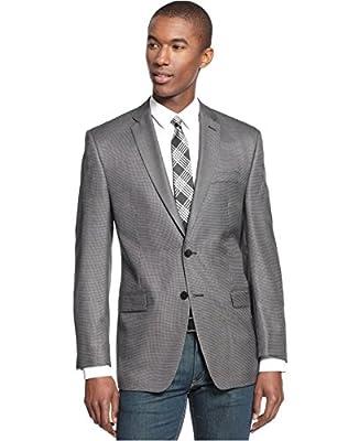 Calvin Klein Black & White Neat Two Button New Men's Sport Coat