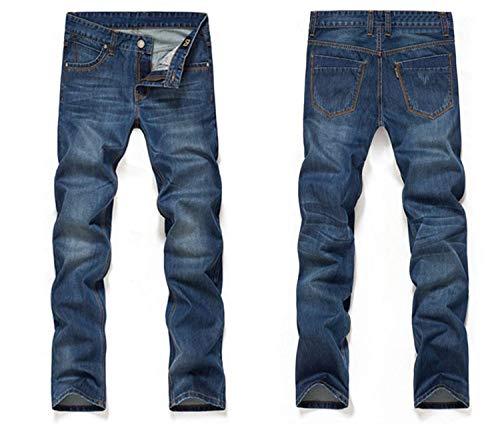 Di Marca Aderenti Mode Blu Taglio Base Jeans Colour Dritto Bermuda Regular Dritti Lunghi Denim Pantaloni Slim Bolawoo Uomo 68nqCAznw