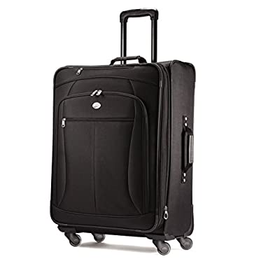 American Tourister Luggage Pop Extra 25  Spinner Suitcase (25 , Black)