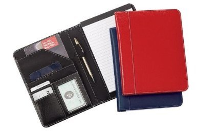 Jr. Size Memo Leather Pad Holder- RED