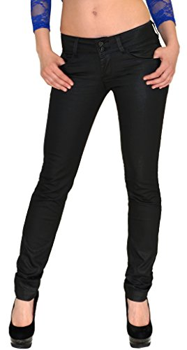 Femmes Jean Cuir Skinny Pour Slim H79 De H79 Pantalon Femme noir gf76yb