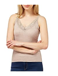 WoolOvers Womens Silk and Cotton Cami Vest Top