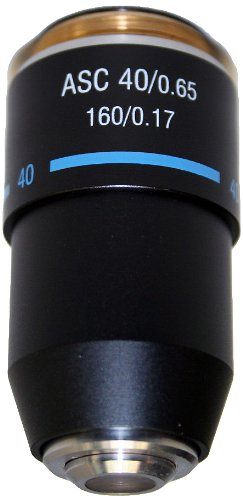 National Optical 740-160ASC 40XR DIN Super High Contrast Objective Lens, N.A. 0.65, For 160 Microscopes